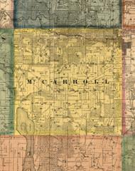 MtCarroll, Illinois 1869 Old Town Map Custom Print - Carroll Co.