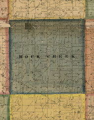 Rock Creek, Illinois 1869 Old Town Map Custom Print - Carroll Co.