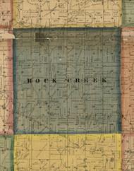 Rock Creek, Illinois 1869 Old Town Map Custom Print - Carroll Co.