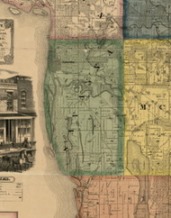 Savanna, Illinois 1869 Old Town Map Custom Print - Carroll Co.