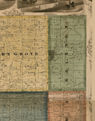 Shannon, Illinois 1869 Old Town Map Custom Print - Carroll Co.