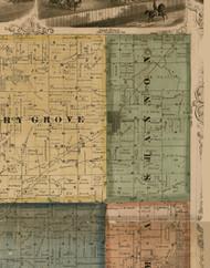 Shannon, Illinois 1869 Old Town Map Custom Print - Carroll Co.