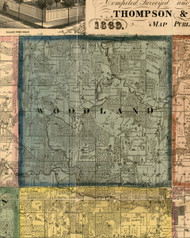 Woodland, Illinois 1869 Old Town Map Custom Print - Carroll Co.