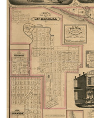 Mt Carroll City, Illinois 1869 Old Town Map Custom Print - Carroll Co.
