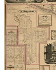 Mt Carroll City, Illinois 1869 Old Town Map Custom Print - Carroll Co.