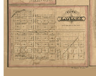 Lanark - Carroll Co., Illinois 1869 Old Town Map Custom Print - Carroll Co.