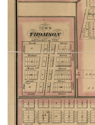 Thomson - Carroll Co., Illinois 1869 Old Town Map Custom Print - Carroll Co.