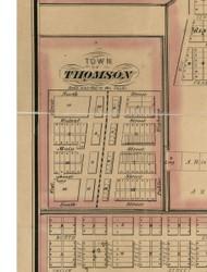 Thomson - Carroll Co., Illinois 1869 Old Town Map Custom Print - Carroll Co.