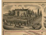 Mt Carroll Seminary - Mt Carroll, Illinois 1869 Old Town Map Custom Print - Carroll Co.