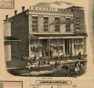 Ebys Block - Carroll Co., Illinois 1869 Old Town Map Custom Print - Carroll Co.