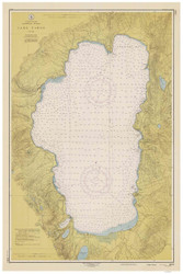 Lake Tahoe - 1951 Nautical Chart - Inland Lakes