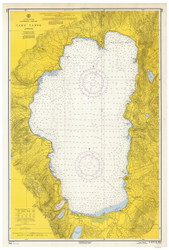 Lake Tahoe - 1965 Nautical Chart - Inland Lakes