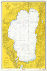 Lake Tahoe - 1971 Nautical Chart - Inland Lakes