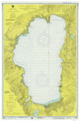 Lake Tahoe - 1975 Nautical Chart - Inland Lakes