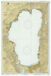 Lake Tahoe - 1987 Nautical Chart - Inland Lakes