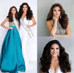Andrea Y  White Gown and Lower Right Alyssa Y Blue Gown and Upper Right