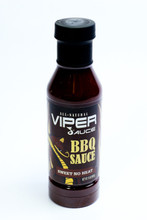 Sweet No Heat Viper Sauce  For those who love sweet but not spicy BBQ sauces. This sauce is a classic Deep South  BBQ sauce that makes a great sticky glaze when cooked on your meat. A great option for your children and all those who love a flavorful and sweet sauce with a hint of cinnamon.  Bottles can not be shipped to Alaska.