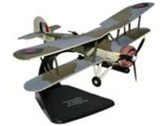 OXAC025 Oxford Die-cast 1:72 Fairey Swordfish Fleet Air Arm of the Royal Navy, No. 821 Squadron, HMS Ark Royal, 1940