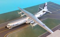 SC088 | Sky Classics 1:200 | C-133 Cargomaster USAF 62000, MAC, 436 MAW (over all silver)