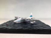 FB013 | Sky Classics Flying Boats 1:200 | Short S.45 Solent 4 Flying Boat Diorama TEAL Tasman Empire Airways New Zealand ZK-AMO (on a sea base)
