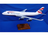 MA057 Custom Made Desktop Models 1:100 Boeing 747-400 British Airways