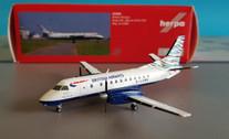555586 | Herpa Wings 1:200 | Saab 340 British Airways / Loganair 'Waves of the City' G-LGNB