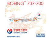PH10741 Phoenix 1:400 Boeing 737-700 China Eastern 'Orange Peacock' B-5293
