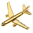 CL026 | Clived Collection | Plane Pin 3D -  AIRBUS A320  (gold plated ,with Box)