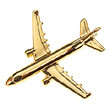 CL003  | Clivedon Collection | Plane Pin 3D - AIRBUS A321 ( GOLD plated,with box)