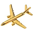CL007 | Clivedon Collection | Plane Pin 3D -  BOEING 737-800 (gold plated,with box)