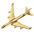 CL009 | Clivedon Collection | Plane Pin 3D - BOEING 747-400  (gold plated,with box)