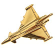 CL011 | Clivedon Collection |  Plane Pin 3D -  EUROFIGHTER  (gold plated,with box)