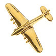 CL022| Clivedon Collection| Plane Pin 3D - HURRICANE (gold plated,with box)