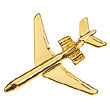 CL025| Clivedon Collection|  PIN PLANE 3D - VC10 (gold plated,with box)