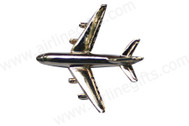 CLA380 | Lapel Pins Gifts, souvenirs, toys | A380 Large Plane Badge (gold plated,with box)