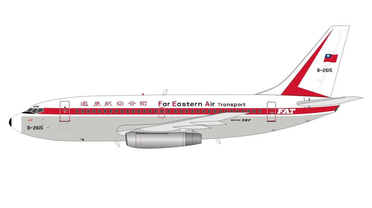 ALB019 | InFlight200 1:200 | Boeing 737-200 FAT Far Eastern Air