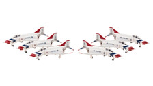 HG60005 | Hogan Die-cast 1:200 | F-4E Phantom II USAF, Thunderbirds 'Twin Seat' (set of 6 models)