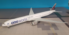 JF-777-3-004 | JFox Models 1:200 | Boeing 777-300 Qatar A7-BAG, 'oneworld' (with stand)