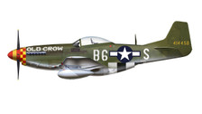 HA7729A | Hobby Master Military 1:48 | P-51D Mustang 41-4450, 363rd FS, 357th FG, 'Old Crow', Capt. C. E. Bud Anderson, 1944 (autograhed) | is due: January 2016