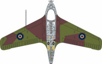 OXSP107 | Oxford Die-cast 1:72 | Me 163 Komet RAF VF241, Eric 'Winkle' Brown (with signed plaque)