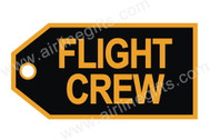 TAG207 | Bag Tags | Luggage Tag - Flight Crew (golden/black)