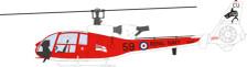 AV7224003   Aviation 72 1:72   Westland Gazelle HT.2 705 Squadron Sharks Royal Navy