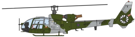 Westland Gazelle, ZB692 British Army Current Scheme (1:72) - Preorder item, order now for future delivery