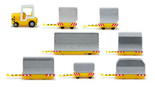 557825 | Herpa Wings 1:200 | Airport Accessories - Container Trailers