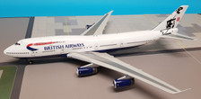 JF-747-4-040 | JFox Models 1:200 | Boeing 747-400 British Airways G-BYGG, 'Rendezvous' (with stand)