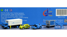 XX2024 | JC Wings 1:200 | Airport Accessories - KLM Airport Service Support Vehicles (GSE) - Set 4