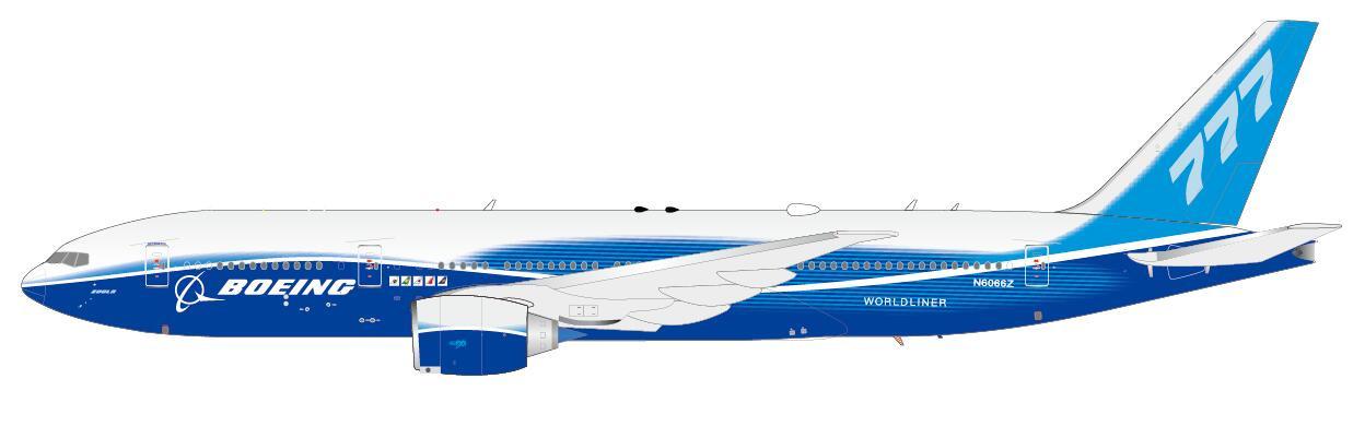XX2182 | JC Wings 1:200 | Boeing 777-200LR House Colours N6066Z