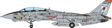 JCW72F14002 | JC Wings Fighters 1:72 | F-14A Tomcat US Navy, VF-41 Black Aces, CVN-65 USS Enterprise, 2001