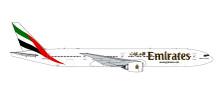 GJUAE1609 | Gemini Jets 1:400 1:400 | Boeing 777-300ER Emirates A6-EPP