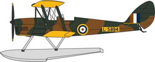 OX72TM010 | Oxford Die-cast 1:72 | D.H.82 Tiger Moth RAF Floatplane L-5894